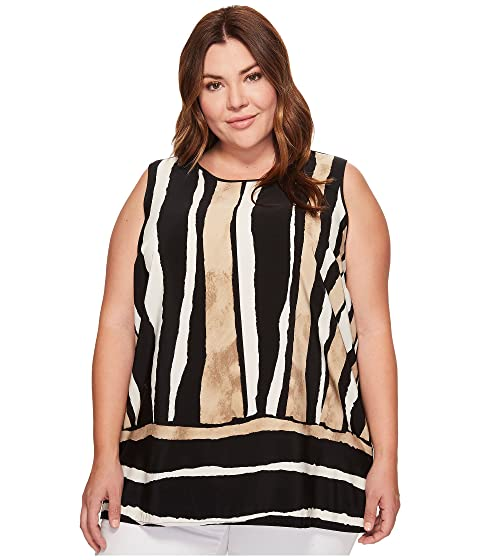 4c03d309a21 Vince Camuto Specialty Size Plus Size Sleeveless Linear Terrain ...