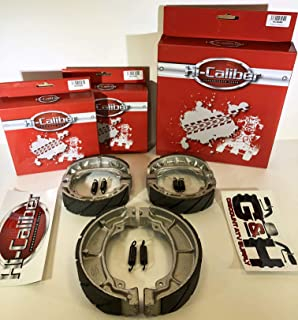 FRONT & REAR SET OF WATER GROOVED BRAKE SHOES + SPRINGS For the 1985-1988 Honda TRX 125 Fourtrax