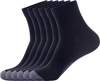 Laulax, 6 pares de calcetines Laulax de algodón peinado, color negro