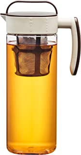 Komax Tritan Clear Large (2.1 quart) Iced Tea Maker with Airtight Lid Twist & Pour - BPA-Free Pitcher