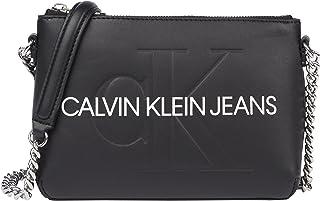 CALVIN KLEIN JEANS Womens Chain Camera Cross Body Bag Handbag White ONE Size