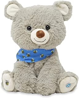 "Cuddle Barn My Bear Coby - Animated Bear Cub Stuffed Animal, 11"" Gray Singing Plush Toy"