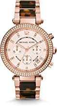 Best michael kors parker gold tortoise chronograph watch Reviews