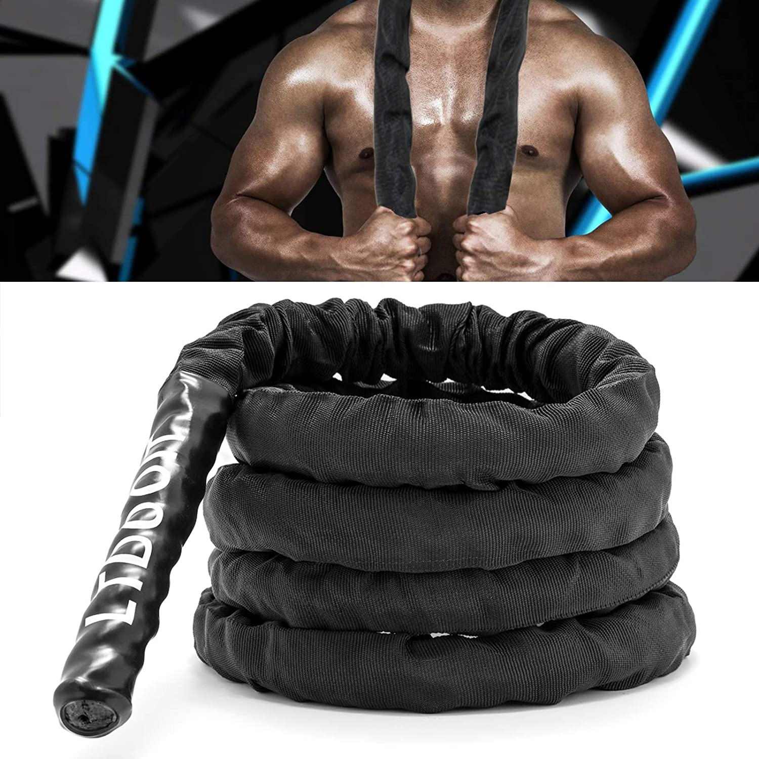 LTDOOIT Jump Rope Heavy Workout Skipping 格安SALEスタート Battle 特売 Thick Weight Ro