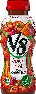 V8 Spicy Hot 100% Vegetable Juice, 12 Fl Oz Bottle (Pack of 12)