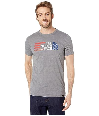 The North Face Short Sleeve Americana Tri-Blend Tee (TNF Medium Grey Heather) Men