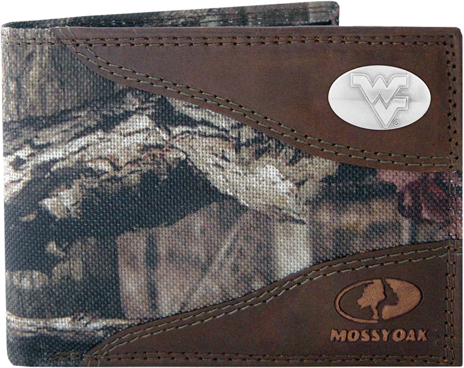 ZEP-PRO Men's Some reservation Mossy Oak At the price of surprise Nylon Wallet Leather and Concho Passcase