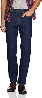 Riders by Lee Men's Straight Stretch Jean, Navy, S-32