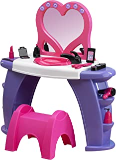 American Plastic Toys Deluxe Beauty Salon Playset, Pink