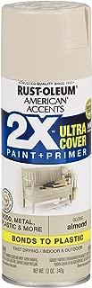 Rust-Oleum 327891 American Accents Spray Paint, 12 oz, Gloss Almond