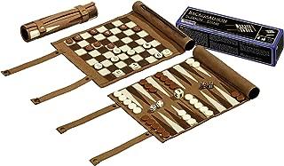 Philos 2801 Travel Chess Backgammon Checkers Set-Multicolour