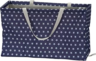 Household Essentials 2243 Krush Canvas Utility Tote | Reusable Grocery Shopping Laundry Carry Bag | Teal with White Diamon...