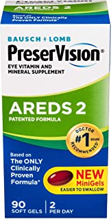 Bausch + Lomb PreserVision AREDS 2 Eye Vitamin & Mineral Supplement 90 Soft Gels