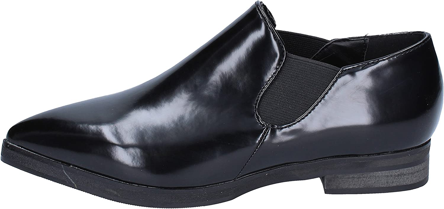 FRANCESCO MILANO Loafers-shoes Womens Leather Black