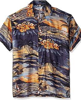 Men's Hawaiian Shirt Button Down Casual Aloha Short...