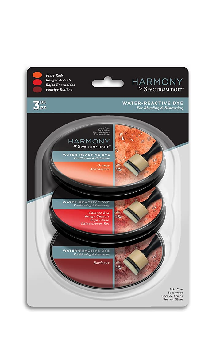 Spectrum Noir SN-IP-HWR3-FRED Harmony 3PC (Fiery Reds) Water Reactive Ink Pad,