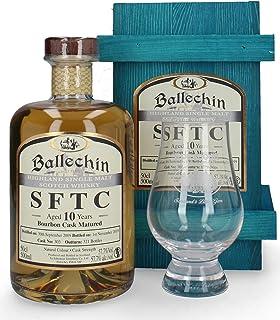 Ballechin 10 Jahre 2009/2019 SFTC No. 303 Bourbon Cask Single Malt  Glas