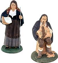 Figuras Belén, figuras de terracota decoradas a mano, Belén De Cerámica De Caltagirone