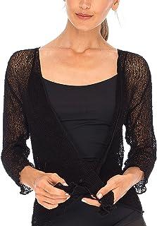 Womens Sheer Shrug Tie Top Open Front Cardigan...