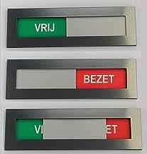 Vrij Bezet bordje met dubbelzijdig tape - Acrylaat Kunststof - vrij bezet bordje sign vrij niet storen schuifpaneel inschu...