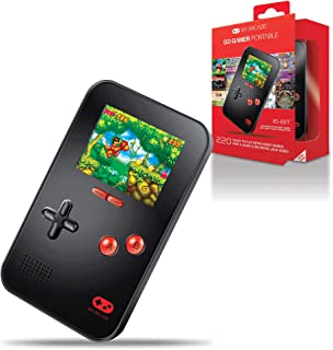 My Arcade Go Gamer Portable - Handheld Gaming System - 220 Retro Style Games - 16 Bit High Resolution - Battery Powered - Full Color Display - Volume Buttons - Headphone Jack - Black