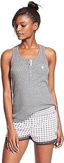 U.S. Polo Assn. Womens Pajama Sets Racerback Tank and...