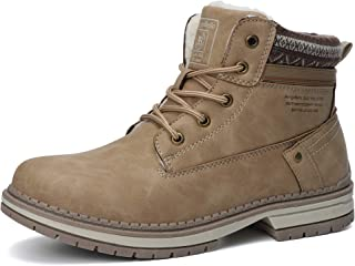 Botas Mujer Botines Zapatos Invierno Botas de Nieve Cálido Fur Forro Aire Libre Boots Urbano Fiesta Oficina Caminando Senderismo 36-41(37 EU,Caqui)