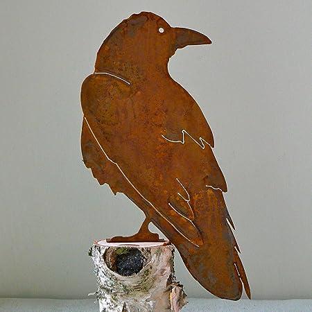 Rusty OWL Garden  home silhouette sign Ornament decoration feature Statue bird
