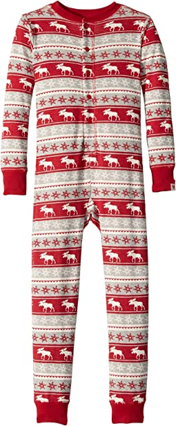 Fair Isle Moose Organic Cotton One-Piece (Toddler/Little Kids/Big Kids)