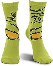 elope Dr. Seuss Grinch Christmas Costume Crew Socks Green