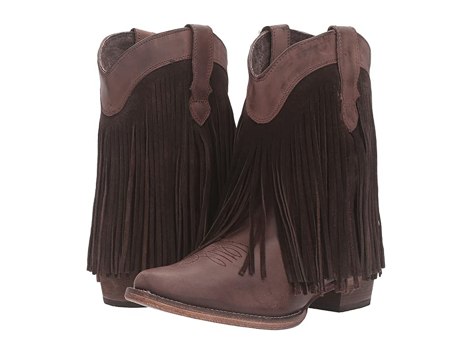 Roper Dylan (Brown Leather) Cowboy Boots