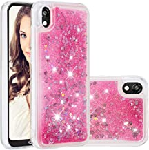 ZDXX-PC Bling Glitter Case for Huawei Y5 2019, Clear Gel Soft TPU Phone Case Cover for Huawei Y5 2019 (Pink)
