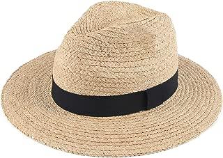 Melesh Summer Beach Sun Panama Straw Fedora Hat