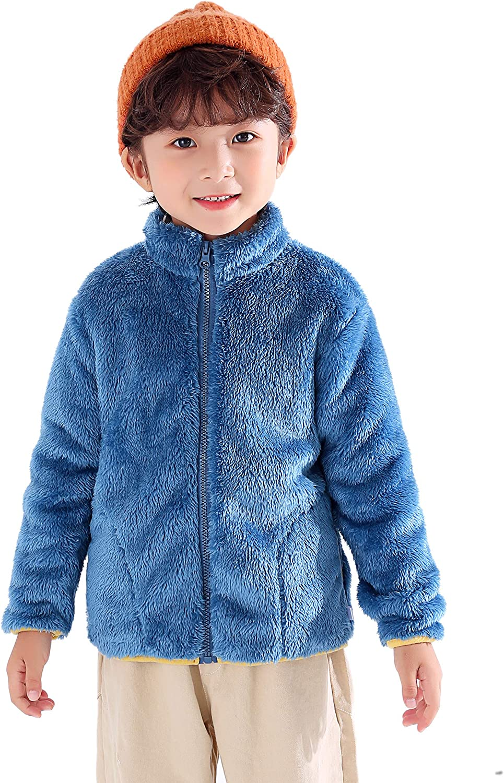 Kihatwin Unisex Toddler Girls Boys Fleece Faux Full-Zip Flannel Max 77% Popular brand OFF