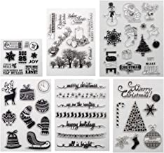 Merry Christmas Theme Clear Stamps for Making Card Decoration and Scrapbooking Album Paper(Merry Christmas)