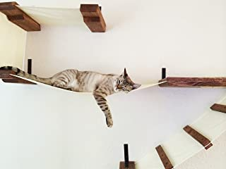 CatastrophiCreations Deluxe Playplace Hammocks for Cats in English Chestnut