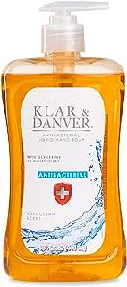 Klar & Danver Soft Clean Scent Antibacterial Liquid Pump Hand Soap with Glycerine as Moisturizer 15 oz by Klar & Danver