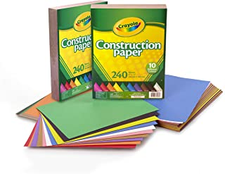 Crayola Bulk Construction Paper, Back to School Supplies, 10 Colors, 480 Count