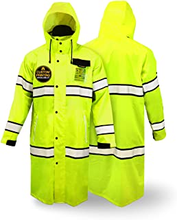 KwikSafety (Charlotte, NC) TORRENT Class 3 Safety Trench Coat | High Visibility Waterproof Windproof Safety Rain Jacket | ...