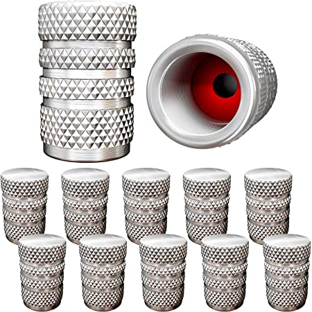 fit GMC Lock Tight 4Pack Set and Vehicle wesport Custom Metal Car Tire Valve Stem Caps SUV | Car Dustproof Seal Truck Airtight Leakproof All-Weather