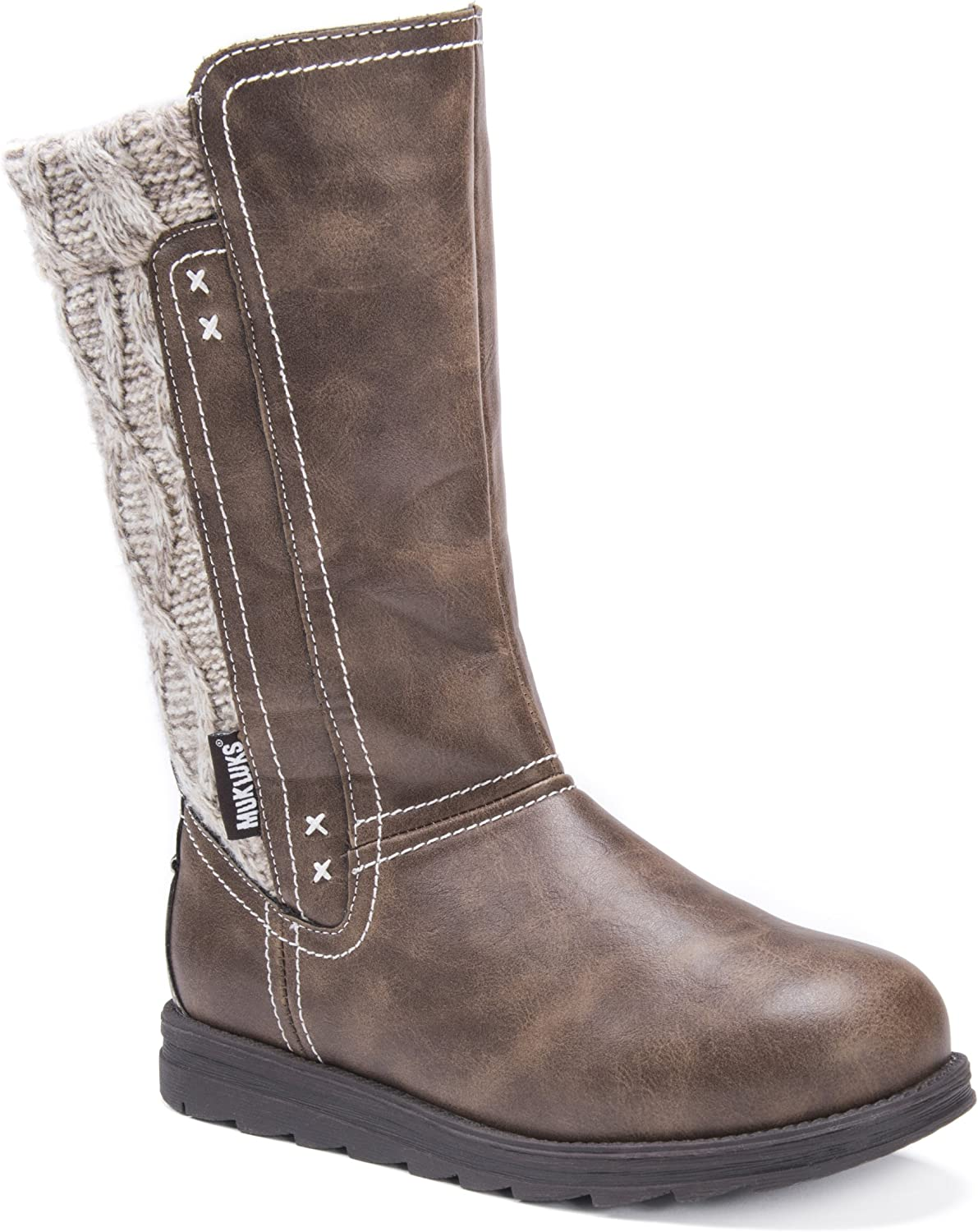 MUK LUKS Womens Women's Stacy Boots- Brown Fashion Boot