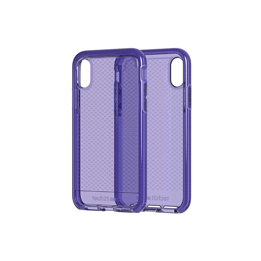 tech21 - Evo Check Case for Apple iPhone Xs - Ultra Violet