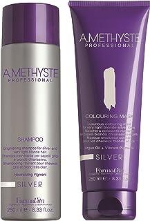 Shampoo neutralizzante Silver + maschera colorante di Amethyste Professional (250 ml)