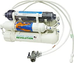 Alkaline (raise pH level) 5-stage Countertop Reverse Osmosis Revolution Water Purification System, 75 GPD membrane