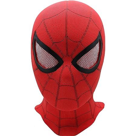FUGUI Casque de d/éguisement Spiderman Homecoming Masque /à Capuche LED pour Homme et ado St/ér/éoscopique 3D en PVC