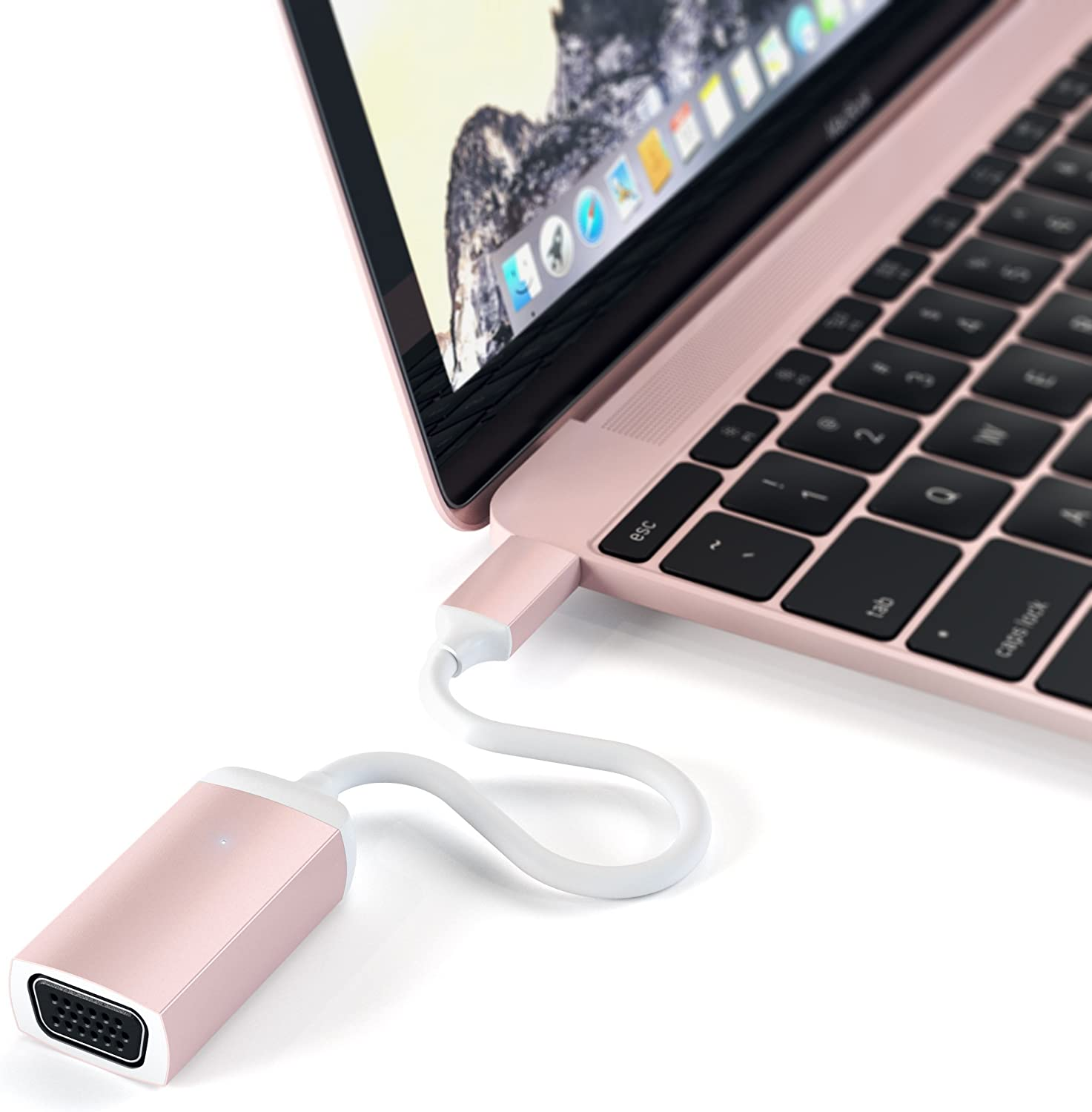 Satechi Type-C VGA USB-C Cable Adapter Compatible w 60Hz - 1080p Raleigh Mall half