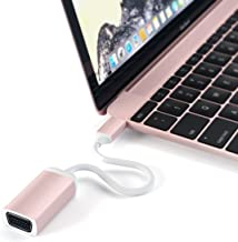 Satechi Type-C VGA USB-C Cable Adapter 1080p/60Hz - Compatible with 2018 MacBook Air, 2018 iPad Pro, 2016/2017/2018 MacBook Pro/MacBook, Microsoft Surface Go and More (Rose Gold)