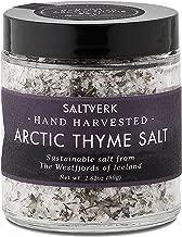 Saltverk Arctic Thyme Sea Salt, 2.82 Ounces of Handcrafted Gourmet Salt Flakes