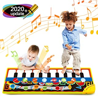 Bieyaaso Musical Piano Mat 19 Keys Piano Keyboard Play Mat K
