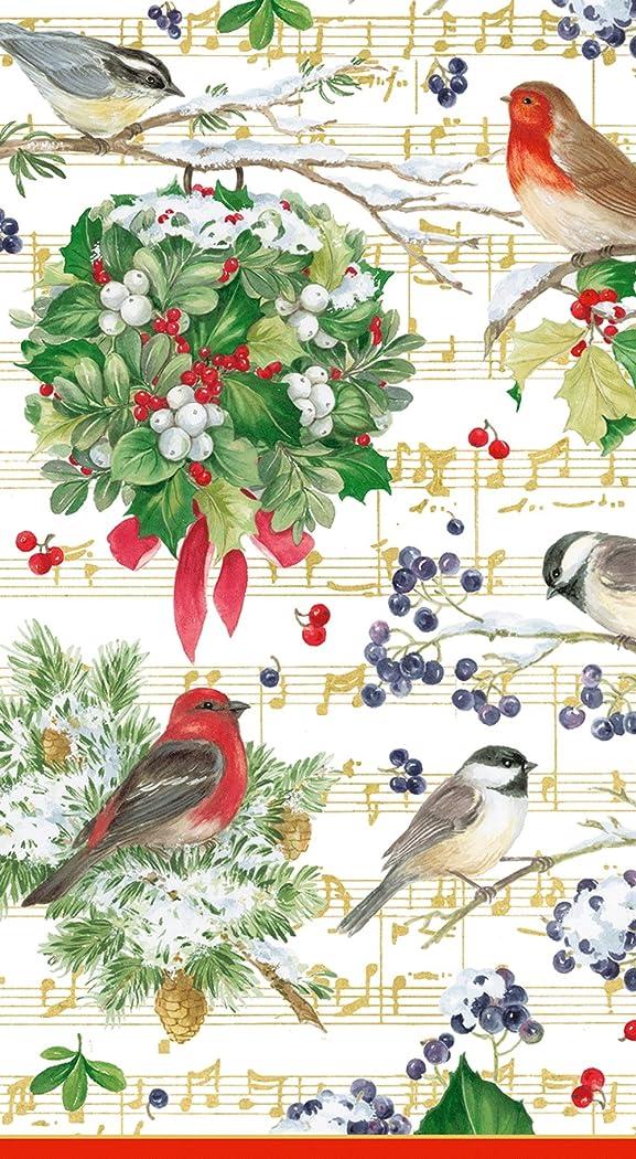 飼料レビュー民間人(Guest Towels) - Entertaining with Caspari Winter Song Guest Towels, Pack of 15